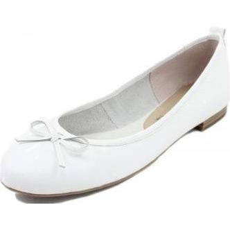 Baleríny Tamaris white 1-22122-20 sú koženná vychádzková dámska ...