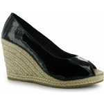Golddigga Patent Ladies Wedges