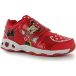 Disney Childrens Light Up Trainers Minnie Red